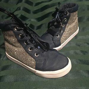 Girls size 10 Frozen Glitter Sneakers